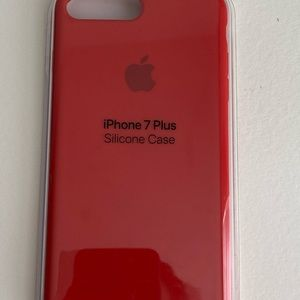 Apple 7 Plus Product RED silicone case